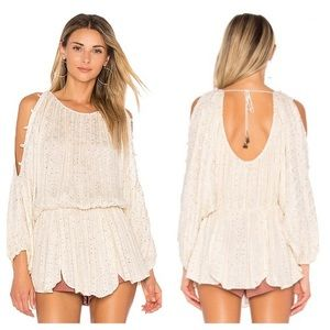 "NWT!Free People ""little shine"" metallic tunic"